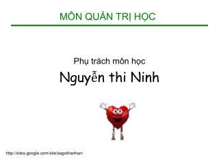 M N QUN TR HC