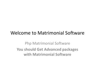 Matrimonial Software
