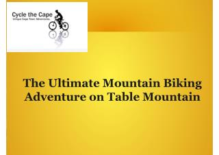 The ultimate mountain biking adventure on table mountain