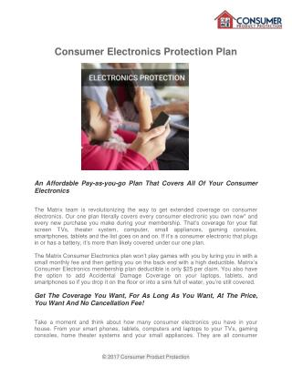 Enjoy Repair or Replace Coverage Anything in Your Home - Consumer Product Protection