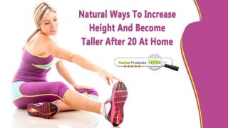 Natural Ways To Increase Height And Become Taller After 20 At Home