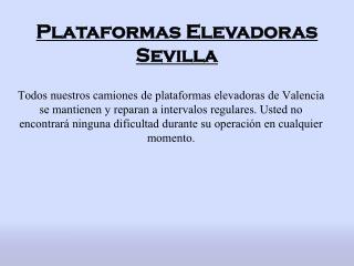 Plataformas Elevadoras Sevilla - camionescesta.com