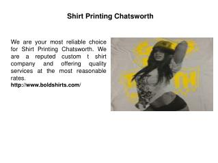 Shirt Printing Chatsworth