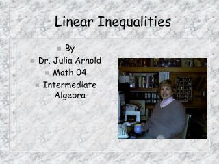 Linear Inequalities