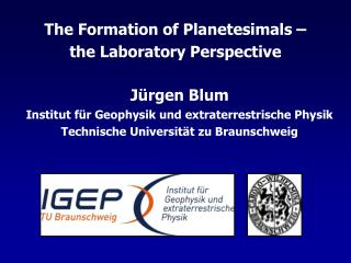The Formation of Planetesimals    the Laboratory Perspective