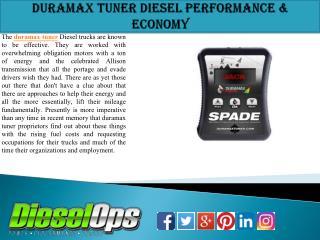 Duramax tuner Diesel Performance & Economy