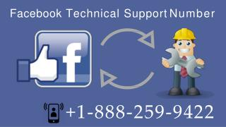 Facebook Technical Support  1-888-259-9422 Number