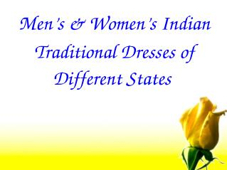 Indian Traditional Dresses of Men & Women