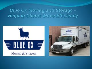 Moving Company The Woodlands - Blue Ox Moving and Storage