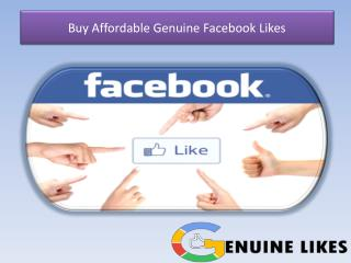 Buy Affordable Facebook Likes