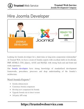 Hire Joomla Developer | Joomla Development Company in India