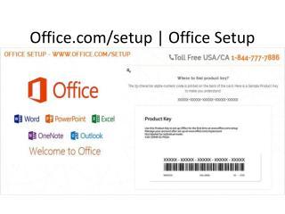 www.Office.com/setup Enter Key |  Office Setup 1-844-777-7886