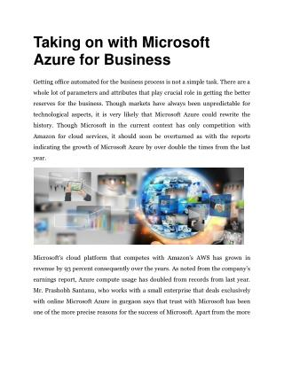 Taking on with Microsoft Azure for Business