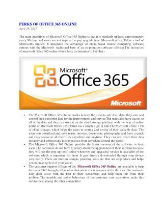 Perks of Office 365 Online