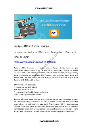 Juniper JN0-410 exam dumps