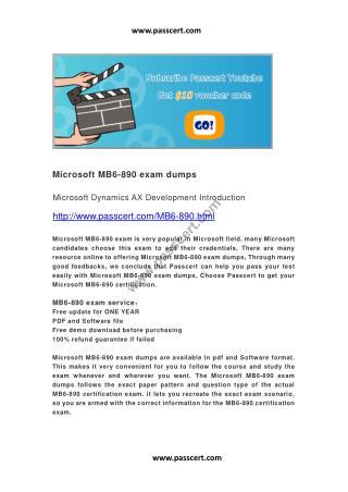 Microsoft MB6-890 exam dumps
