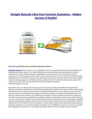 What Makes Straight Naturals Ultra Pure Turmeric Different?