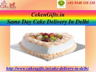 Same Day Cake Delivery in Delhi via CakenGifts.in