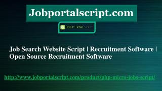 Job Search Website Script | Recruitment Software | Open Source Recruitment Software