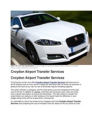 Croydon Airport Transfer Services - ☎ 0208 686 2777 Express Minicabs Croydon