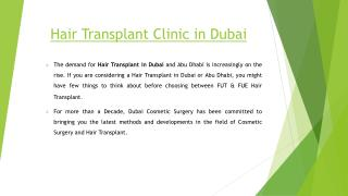Hair transplant clinic in dubai