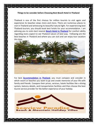 Beach Hotel in Thailand