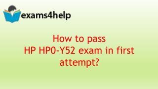 HP0-Y52 PDF Dumps