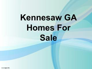Kannesaw GA House For Sale