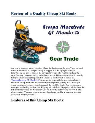 cheap ski boots