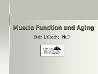 Muscle Function and Aging