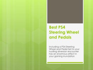 Best ps4 steering wheel and pedals