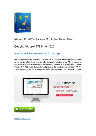 70-461 Microsoft Exam Dumps