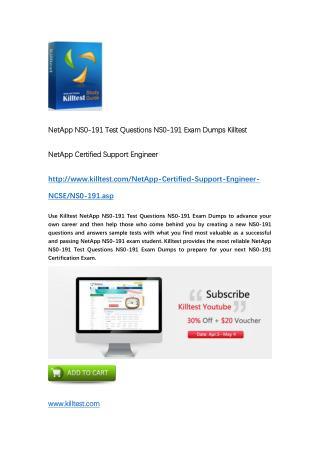 NS0-191 NetApp Exam Dumps