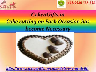 Same Day Cake Delivery via CakenGifts.in