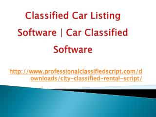 Classified car listing software | car classified software