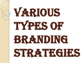 Various types of Branding Strategies in Marketing