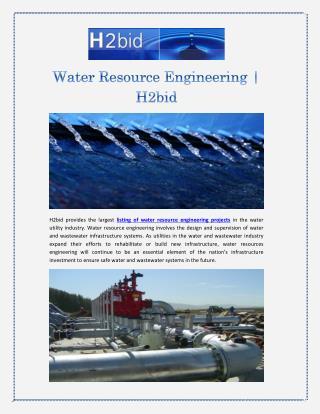 Water Resource Engineering | H2bid