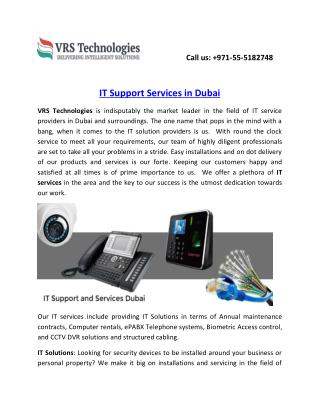IT Support Services in Dubai