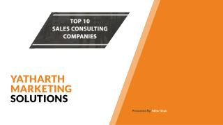 10 Sales Consulting Companies Sales Consulting Services Company