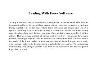 What You Need to Learn About Forex Trading