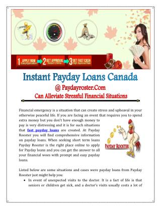 Online Payday Loans Toronto