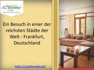 Ein Besuch in einer der reichsten Städte der Welt - Frankfurt, Deutschland