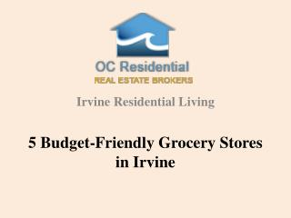 5 budget friendly grocery stores in Irvine
