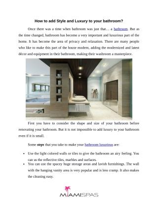Make your bathroom look luxurious   Miamispas