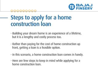 Steps to Apply For a Home Construction Loan