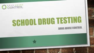 School Drug Testing