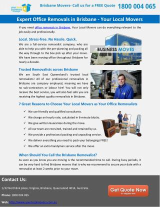 Expert Office Removals in Brisbane - Your Local Movers