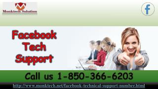 Is Facebook Tech Support truly the overwhelming 1-850-366-6203?