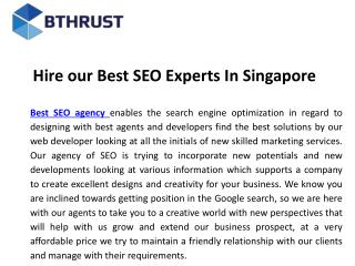 Hire our best seo experts in singapore
