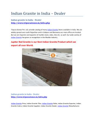Indian Granite in India – Dealer